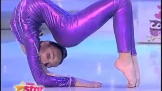Număr extrem de contorsionism  Vezi momentul impresionant al Andreei Tucaliuc d