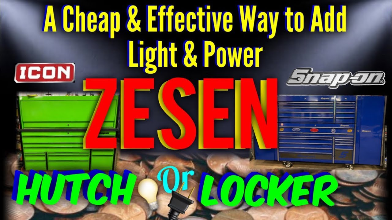 Add Cost Effective Light And Power In Your Snap On Hutch Or Locker With Zesen Products