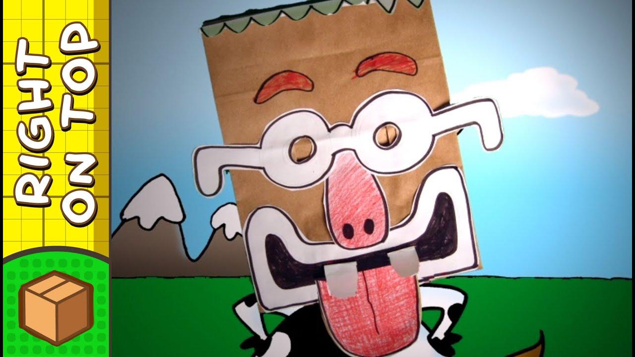 Crafts Ideas For Kids Goofy Paper Bag Mask Diy On