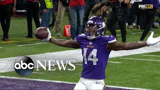 Vikings defeat Saints in last-second comeback