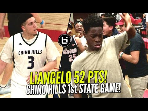 LiAngelo & LaMelo Ball CAN'T BE STOPPED! Chino Hills CRAZY 1st State Game! EPIC Fan Dance Battle!