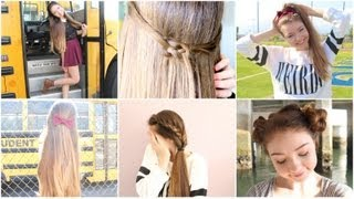 Repeat youtube video 5 Quick n' Easy Back to School Heatless Hairstyles!