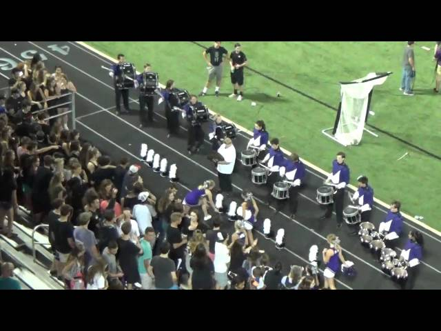 Fayetteville High School Bulldogs Drum Line 09/18/15