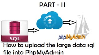 How to Upload / import the large data sql file in PhpMyAdmin Part   II