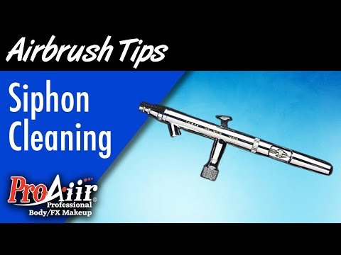 Siphon Airbrush Cleaning and Troubleshooting