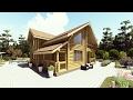 Проект двухэтажного дома 11х11,5 м со вторым светом, из оцилиндрованного бревна.