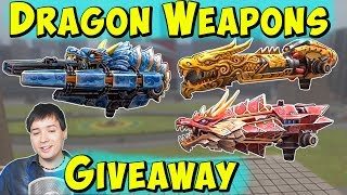 Dragon Weapons Giveaway: Marquess, Blaze, Calamity & War Robots Gameplay WR thumbnail
