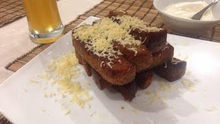 ГРЕНКИ К ПИВУ С ЧЕСНОКОМ из черного хлеба