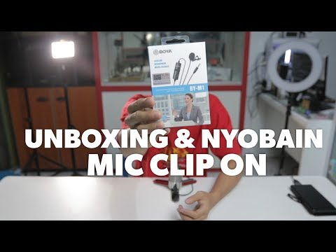 Unboxing dan Nyobain Mic Lavalier Clip ON Boya BY-M1   Murah dan Bagus