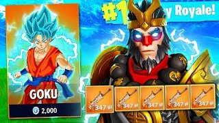 NEW SKINS DRAGON BALL *SUPERHEROES* at FORTNITE NeoDBZ