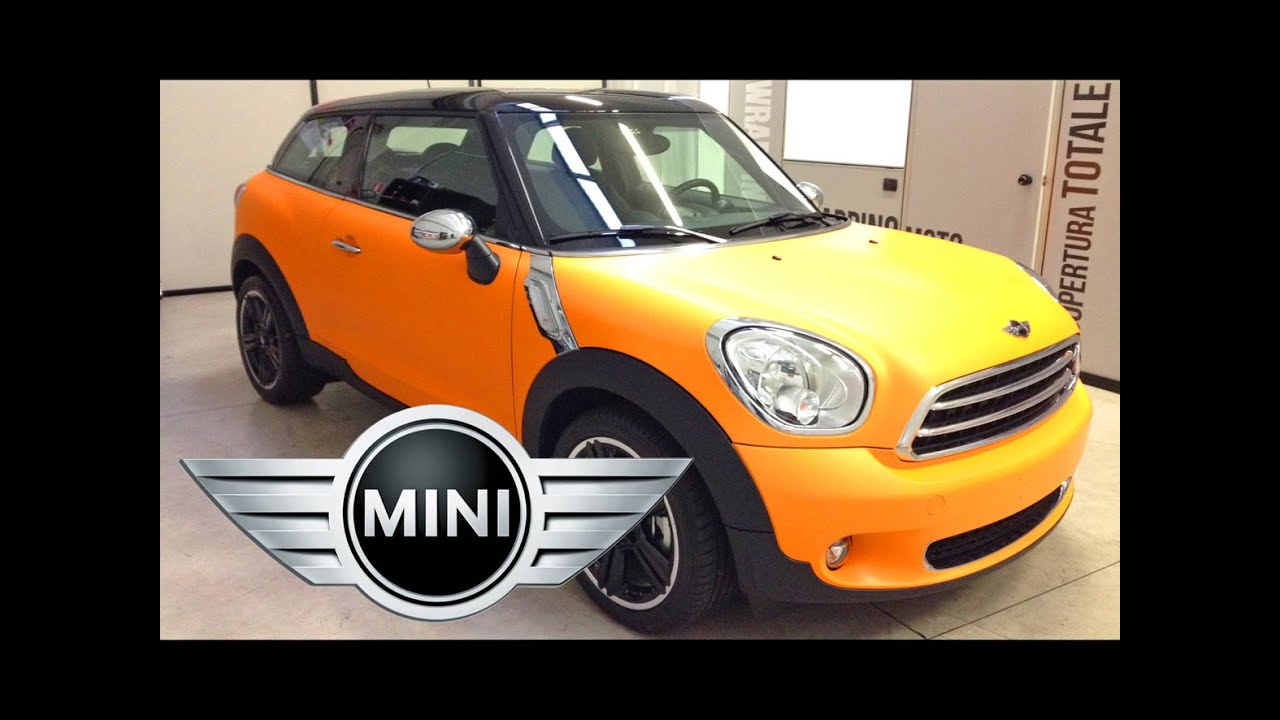 car wrapping mini cooper paceman orange matt youtube. Black Bedroom Furniture Sets. Home Design Ideas