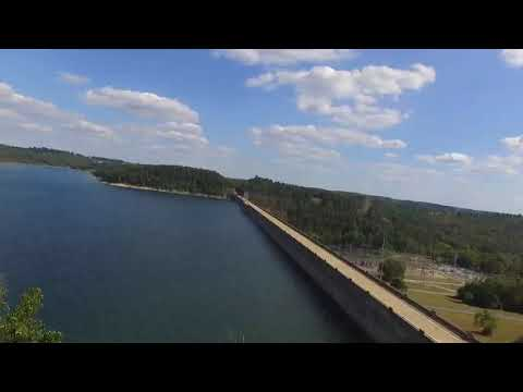Norfork Lake At The Dam And The Fish Hatchery..