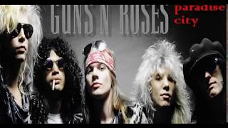 Paradise City - GNR (Guitar Solo Backing Track - Main Solo+Outro Solo)