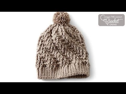 541c305f384 Crochet Stepping Texture Hat - YouTube
