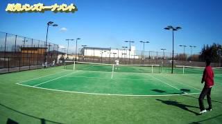 テニス 川角メンズトーナメント 江良亮輔選手vs阿部祐士選手