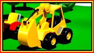 Kid's Cartoons - Clever Cartoon Excavator - Musical Construction Machine!