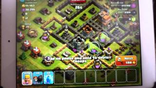 Clash of Clans 170 level 4 barbarian attack