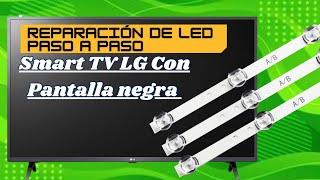 Falla de led pantalla lg 50 pulgadas diagnostico y reparacion ELECTRONICA NUÑEZ