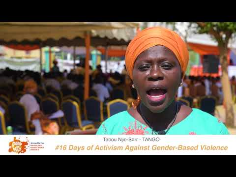 Mrs. Tabou Njie-Sarr of TANGO shares her #iBelieve message for 16 Days of Activism against GBV