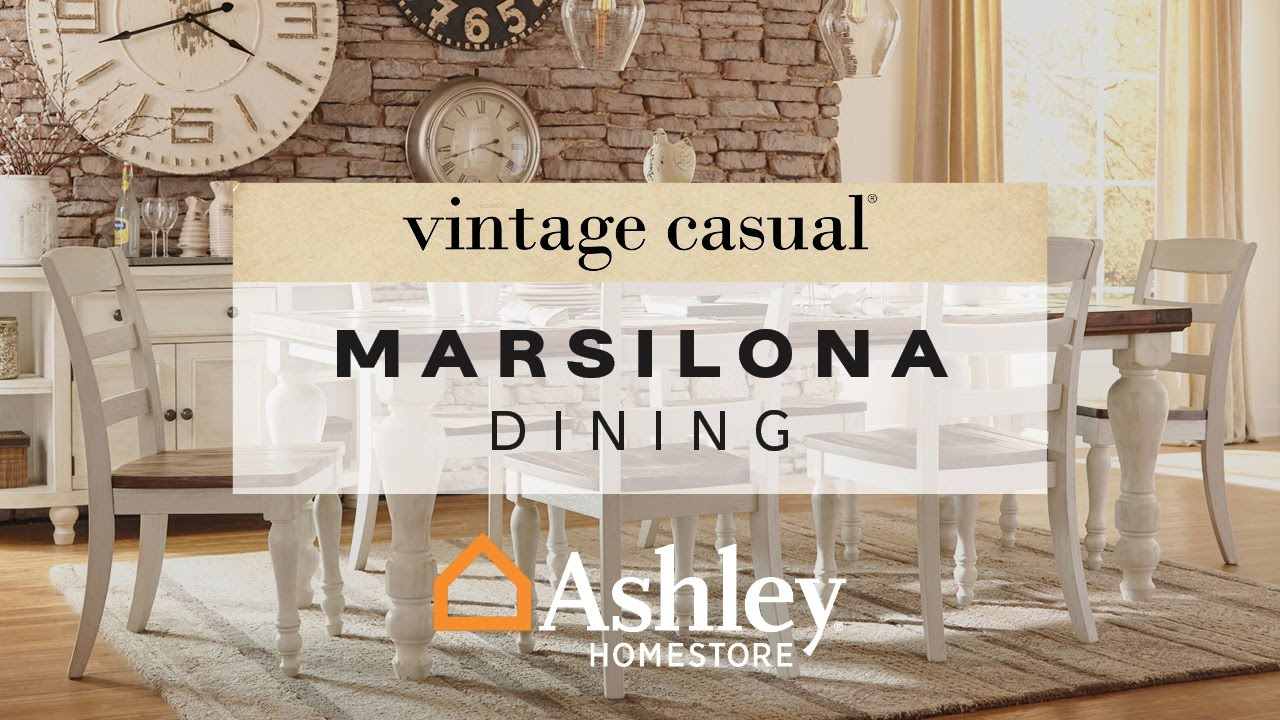 ashley homestore | marsilona dining room - youtube