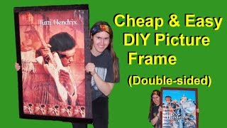 Cheap and Easy DIY Picture Frame Double sided Video