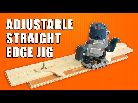 Adjustable Straight Edge Jig for your Wood Router for Fluting, Dados, Rabbets & more!