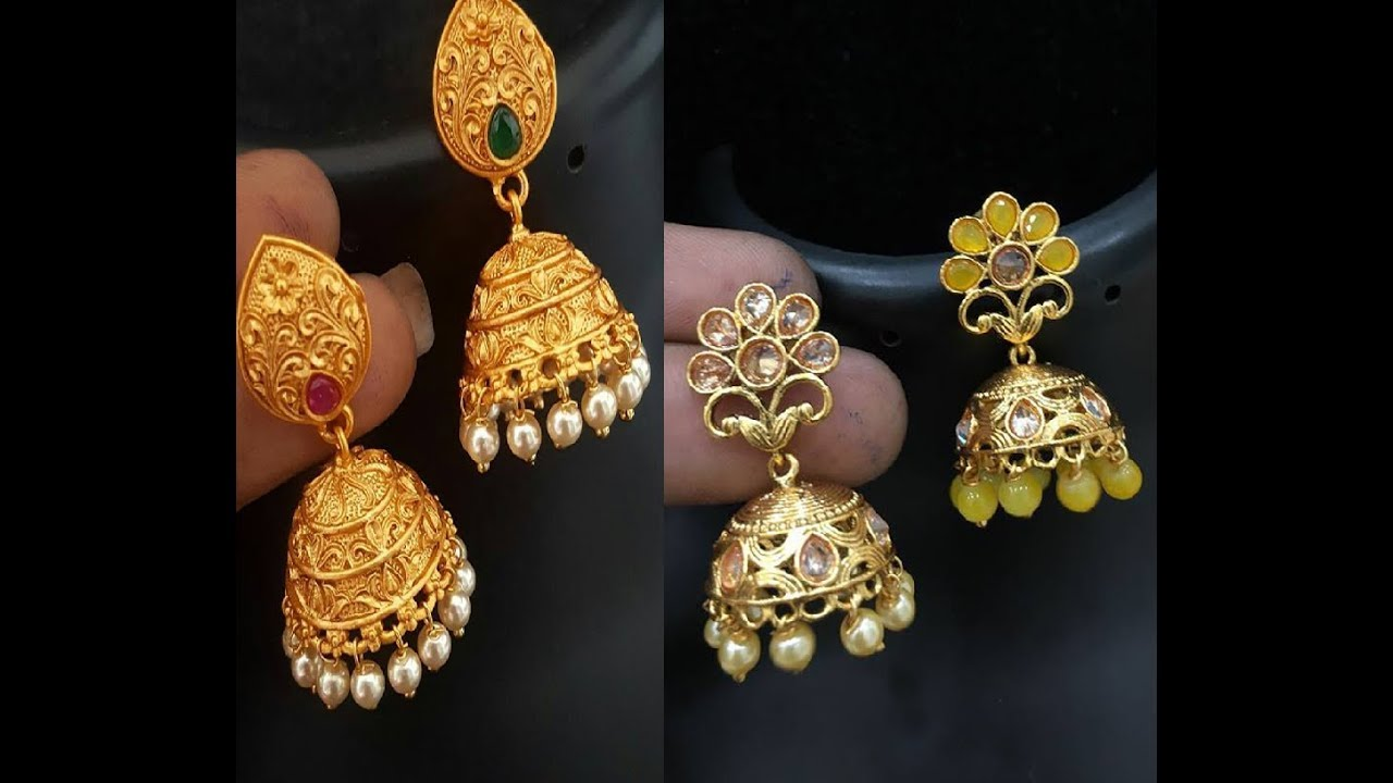 Best Jhumki Design Collections Jhumka Earrings Online Gold