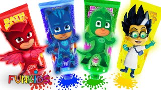 PJ MASKS Bath Paint Activity Set, Fun Tub Coloring w/Owlette, Catboy & Gekko