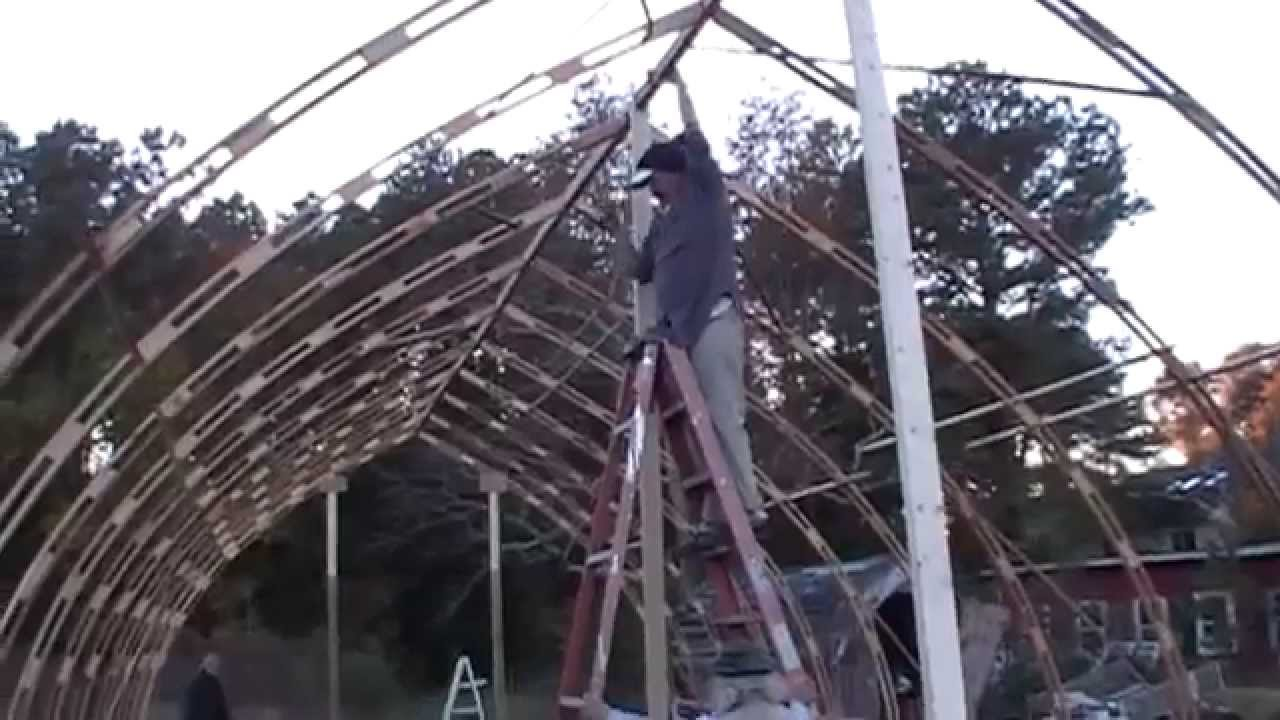 Al 39 s gothic arch greenhouse project youtube for Gothic greenhouse plans