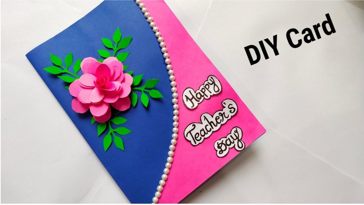 DIY Teacher's Day Card/ Handmade Teachers Day Pop-up Card ...