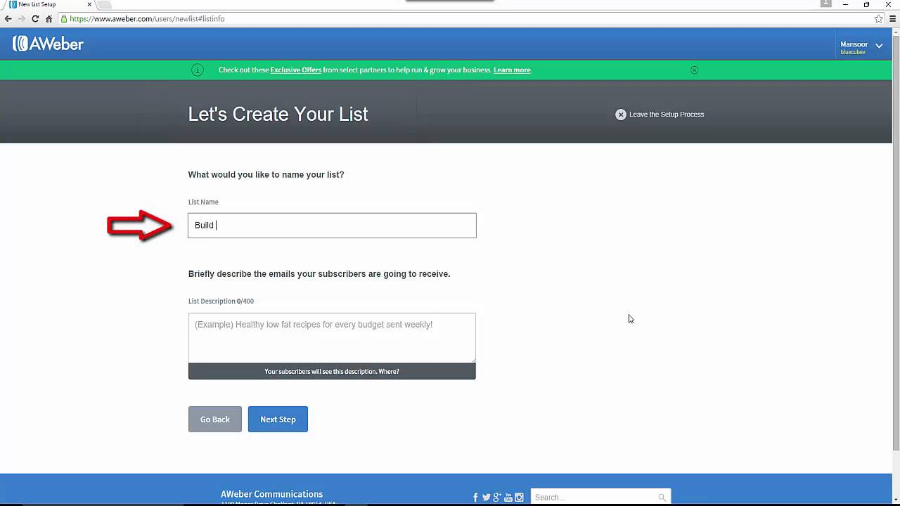 how to create a new list with aweber autoresponder 2016 youtube