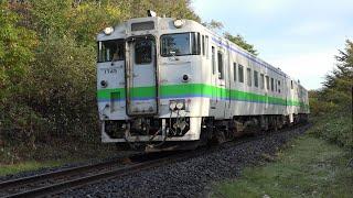 2019.10.07 撮影 常紋峠 紅葉 石北貨物 玉ねぎ列車 ☆北鉄路漫596