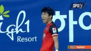 2016 K리그 챌린지 14R 강원FC vs 대전시티즌 하이라이트