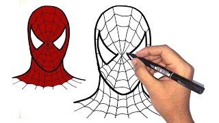 تعليم الرسم للاطفال | كيف ترسم الرجل العنكبوت spiderman خطوة بخطوة للمبتدئين