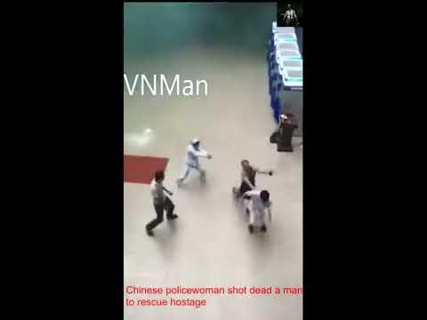 Chinese policewoman shot