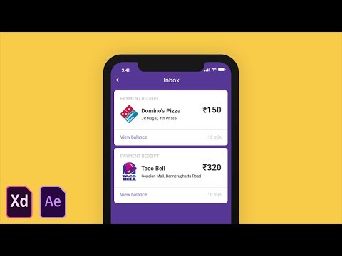 UI Micro Interaction/Animation Tutorial in Adobe XD and After Effects CC 2018!