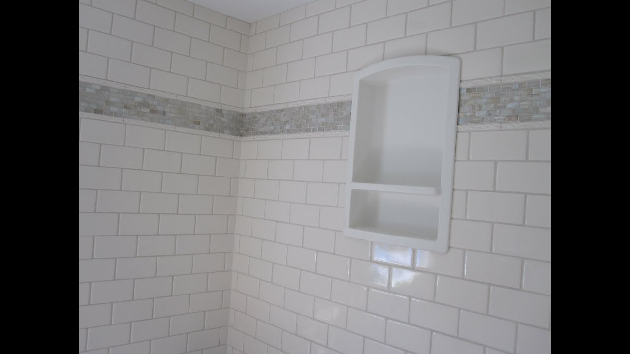Delicieux Ceramic Tile Bathroom Featuring Sonoma Tile And Wood Look Plank Tile Floor    YouTube
