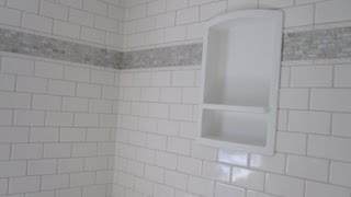 Ceramic Tile Bathroom Featuring Sonoma Tile And Wood Look Plank Tile Floor