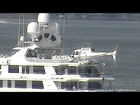 Yacht Boardwalk - Helicopter Landing - New York Harbor - 6/9/2012