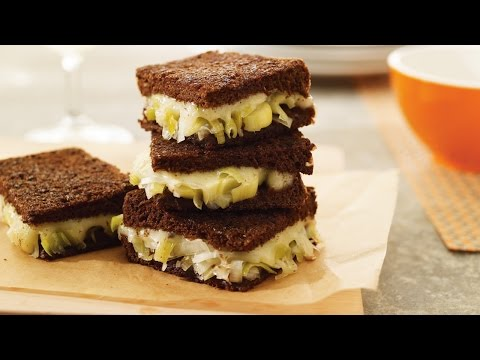 Grilled Swiss cheese sandwich with leek confit   All You Need Is Cheese