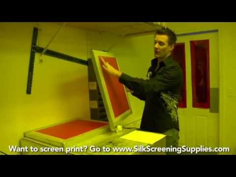 How to Screen Print - Attaching Films - Detailed instruction - Screen Printing 101 DVD pt 15