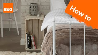 How To Create A Rustic Bedside Table