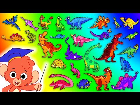Dinosaur ABC | Learn the Alphabet with 26 CARTOON DINOSAURS for children | t rex t-rex | Club Baboo