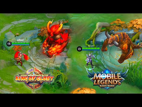Mobile Legends VS King of Glory Skill Effects And Animation