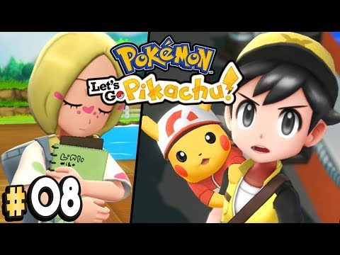 Pokemon Let's Go Pikachu Part 8 MINA FROM ALOLA Walkthrough Gameplay