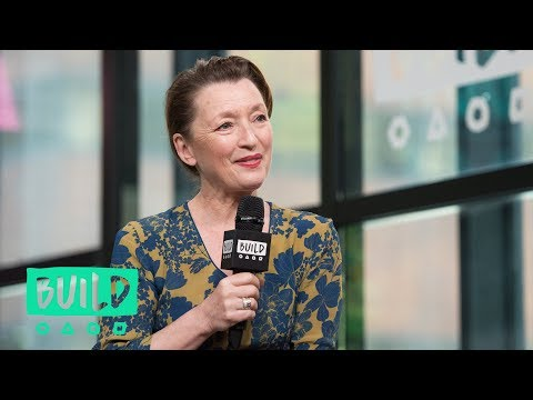 "Lesley Manville Admires The Writing On ""Mum"""