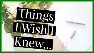 Just a few things I wish I knew before law school started. Like, co...