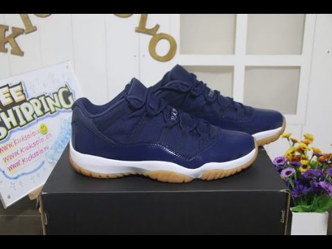huge selection of 59c3e eeb99 Authentic Air Jordan 11 Low Blue Navy Gum Review from www.kicksolo.cn