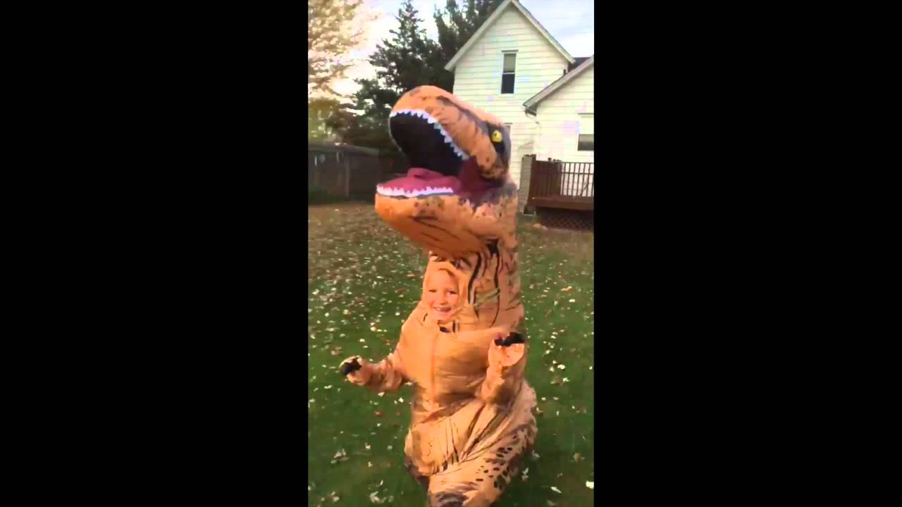 Kid in a T-Rex Costume  sc 1 st  YouTube & Kid in a T-Rex Costume - YouTube