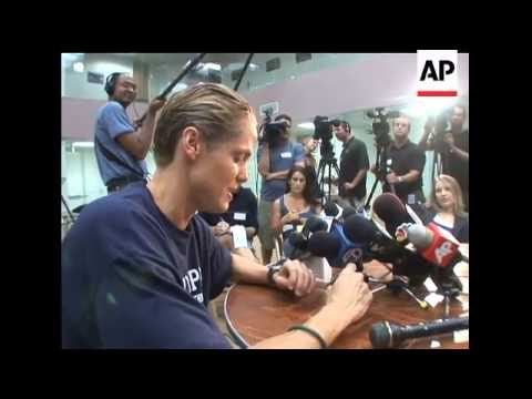 41-year-old Dara Torres is the oldest American swimmer ever to claim a spot on an Olympic swim team.